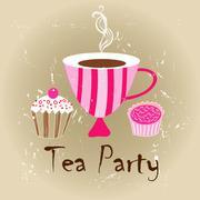 tasty tea - stock illustration