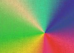 rainbow-colored paints on canvas - stock illustration