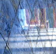 abstract  reflex in      asia      pavement cross     the - stock photo