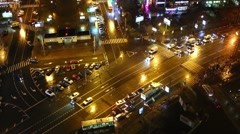 Intersection of Sokolnicheskaya Square and Rusakovskaya street. Stock Footage