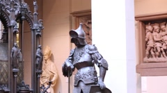 King Theodoric and St. Sebaldus Shrine in Italian Courtyard Stock Footage