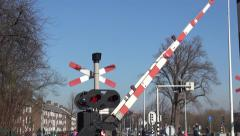 Safety lights for train comming in Holland. Stock Footage