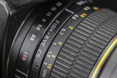 Close up of aperture scale Stock Photos