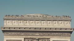 Famous Arc de Triomphe monument zoom out Champs Elysée - 1080p Stock Footage
