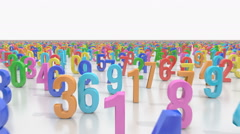 Endless numbers Stock Footage