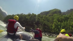 Rafting on the Bhote-Koshi river. Nepal - stock footage