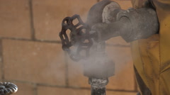 Steaming Valve - stock footage