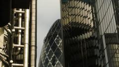City of London financial landmarks Stock Footage