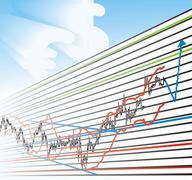 Business Profit Graphs Stock Illustration