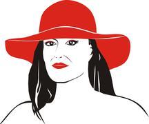 Mature woman  - stock illustration