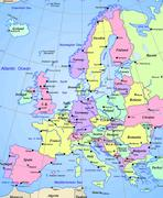 Stock Illustration of Map of europe continent