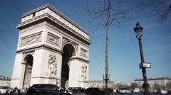 Arc de Triomphe Time lapse Paris, France - 1080p Stock Footage