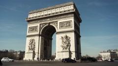 Time lapse Arc de triomphe de l'Étoile, Paris - 1080p Stock Footage