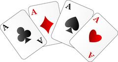 Vector illustration of four aces Stock Illustration