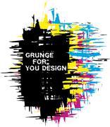 Grunge background as CMYK color - stock illustration