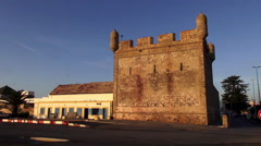 Handheld shot of the North Bastion in Essaouira, Morocco Stock Footage