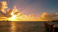 Time lapse of sunset scene in Key West, Florida Stock Footage