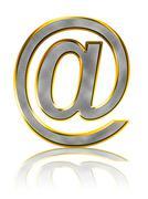 Bling e-mail symbol Stock Photos
