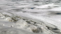 Sea Ice Time-lapse as Tide Rises Stock Footage