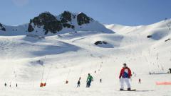 Winter Ski Resort. Timelapse. Stock Footage
