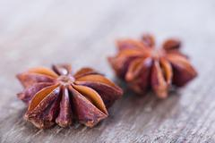 Anise on a table Stock Photos