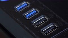 4k usb plug in on computer Stock Footage