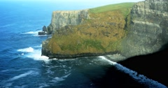 Cliffs of Moher in County Clare, Ireland - stock footage