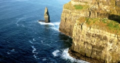 Cliffs of Moher in County Clare, Ireland Stock Footage