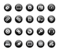 Computer & Devices Buttons Stock Illustration