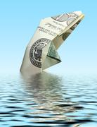 money ship in water - stock photo