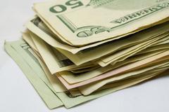 Batch of dollars Stock Photos