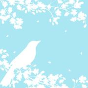 Stock Illustration of blooming tree and birds