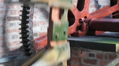 Waterwheel Cog Stock Footage