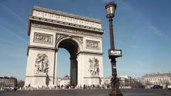 Time lapse traffic Arc de Triomphe de l'Etoile, Paris Stock Footage