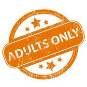 Adults only grunge icon Stock Illustration