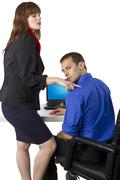 Flirting Co-Worker Stock Photos