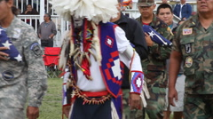 Honoring Native veterans killed in action at pow wow Stock Footage