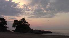 Sunset on beach Stock Footage