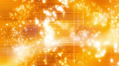 Yellow Orange Particle Abstract - stock footage