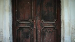 Doors in the old palace Stock Footage