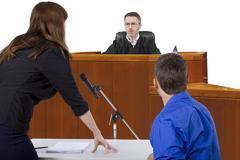 Courtroom Trial Kuvituskuvat