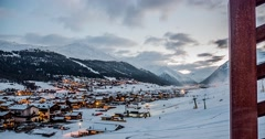 Livigno Evening Timelapse 4k Stock Footage