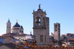 panorama of Bergamo - stock photo