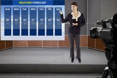 Weather Forecaster Stock Photos