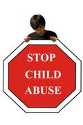 child abuse, stop sign - stock photo
