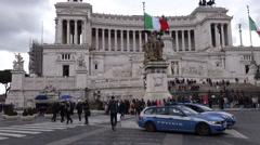 Italy - Rome - Altare della patria Stock Footage