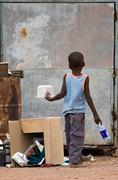 poverty african child - stock photo