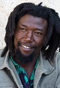 Rastafarian portrait - stock photo