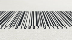 Animation of barcode on paper texture Stock Footage