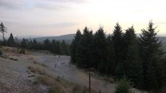 4k German Harz mountain Brocken sunset panorama Stock Footage